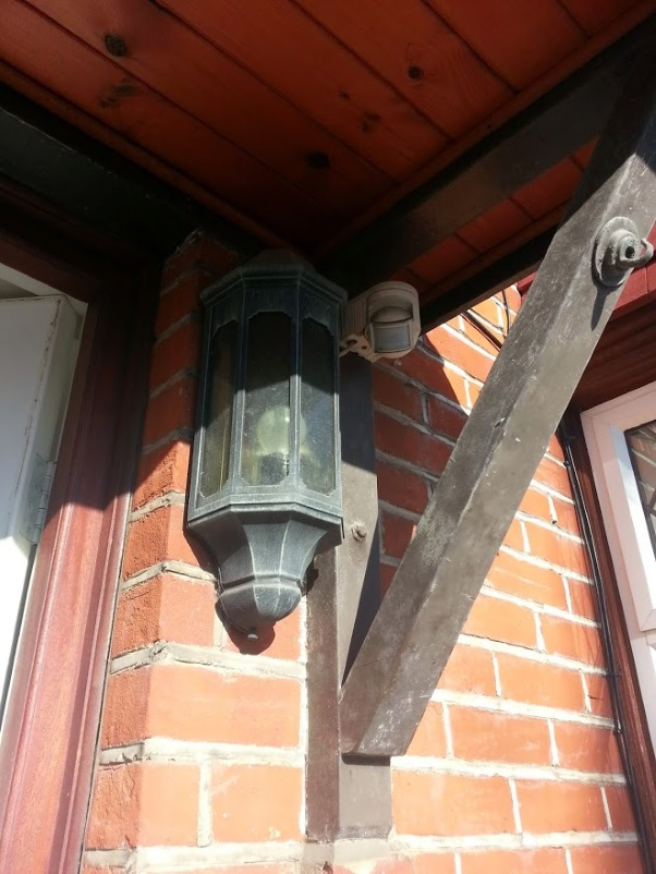 Old front door light