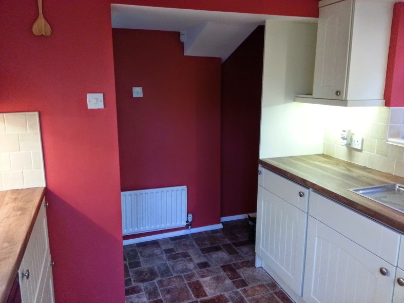 Original red kitchen