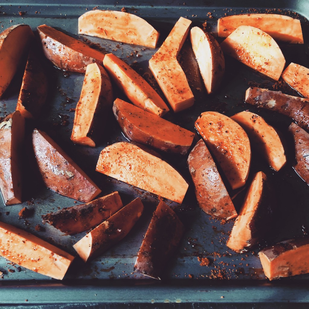 Cajun sweet potato wedges