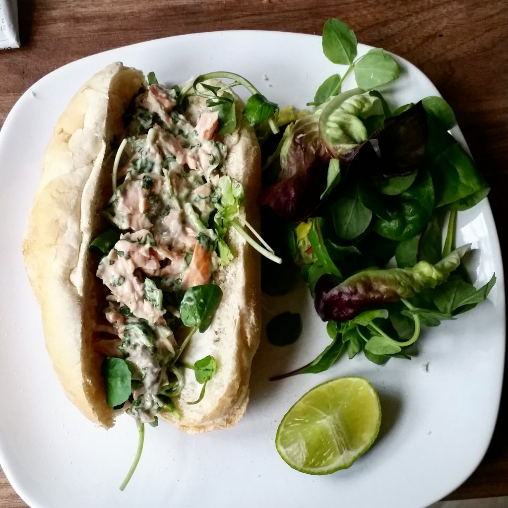 salmon and watercress subs