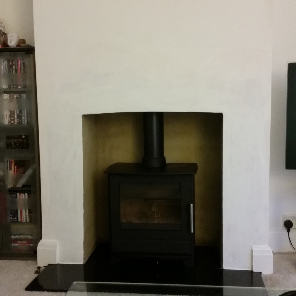 rendered fireplace