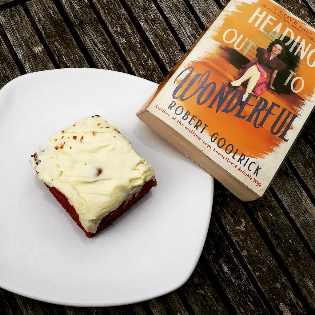 Cake and reading in the garden