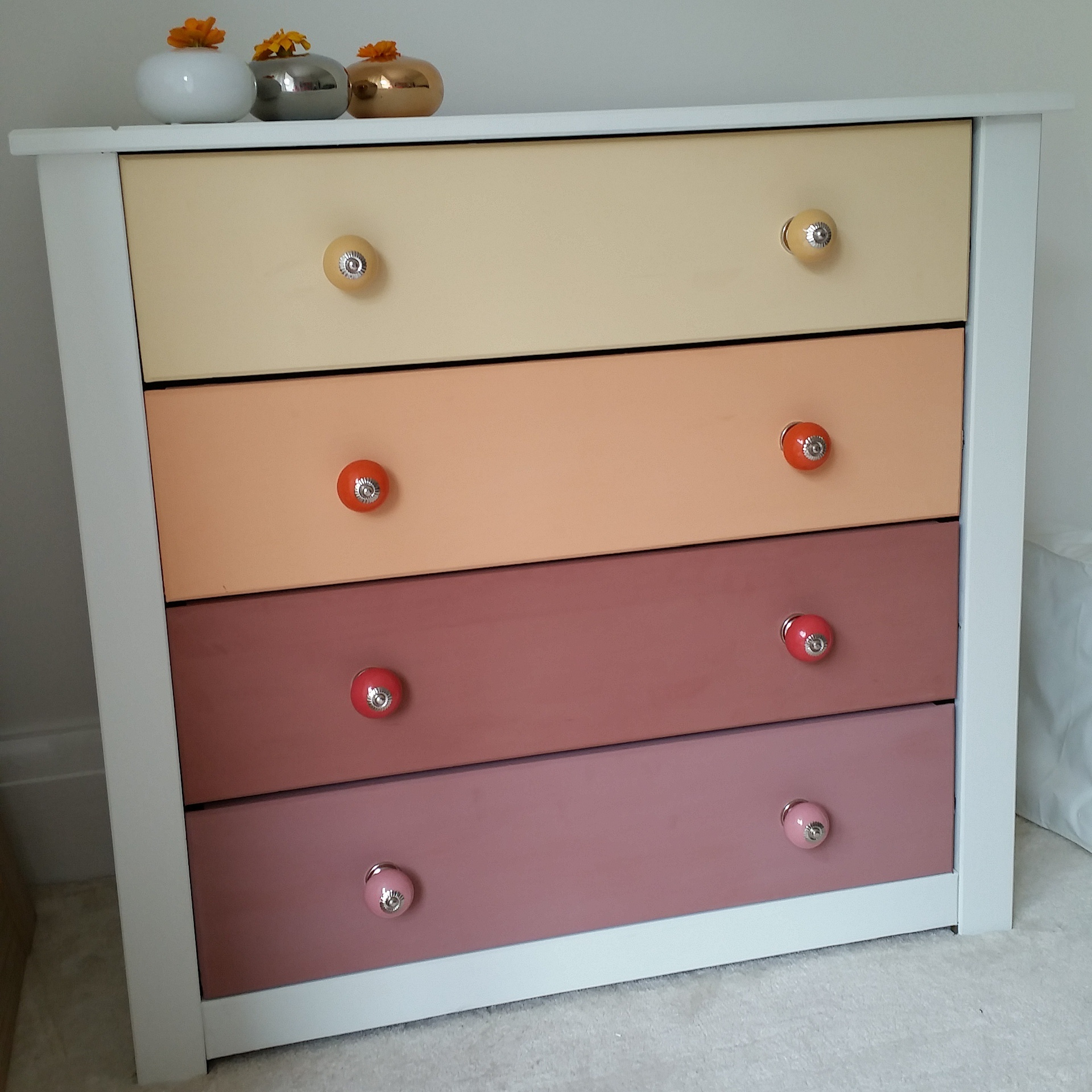 a diy ombre chest of drawers with wayfair boo maddie. Black Bedroom Furniture Sets. Home Design Ideas