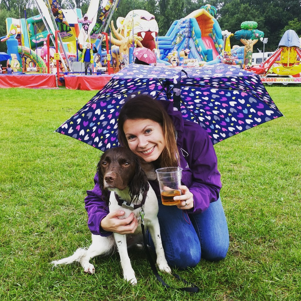 cider in the rain