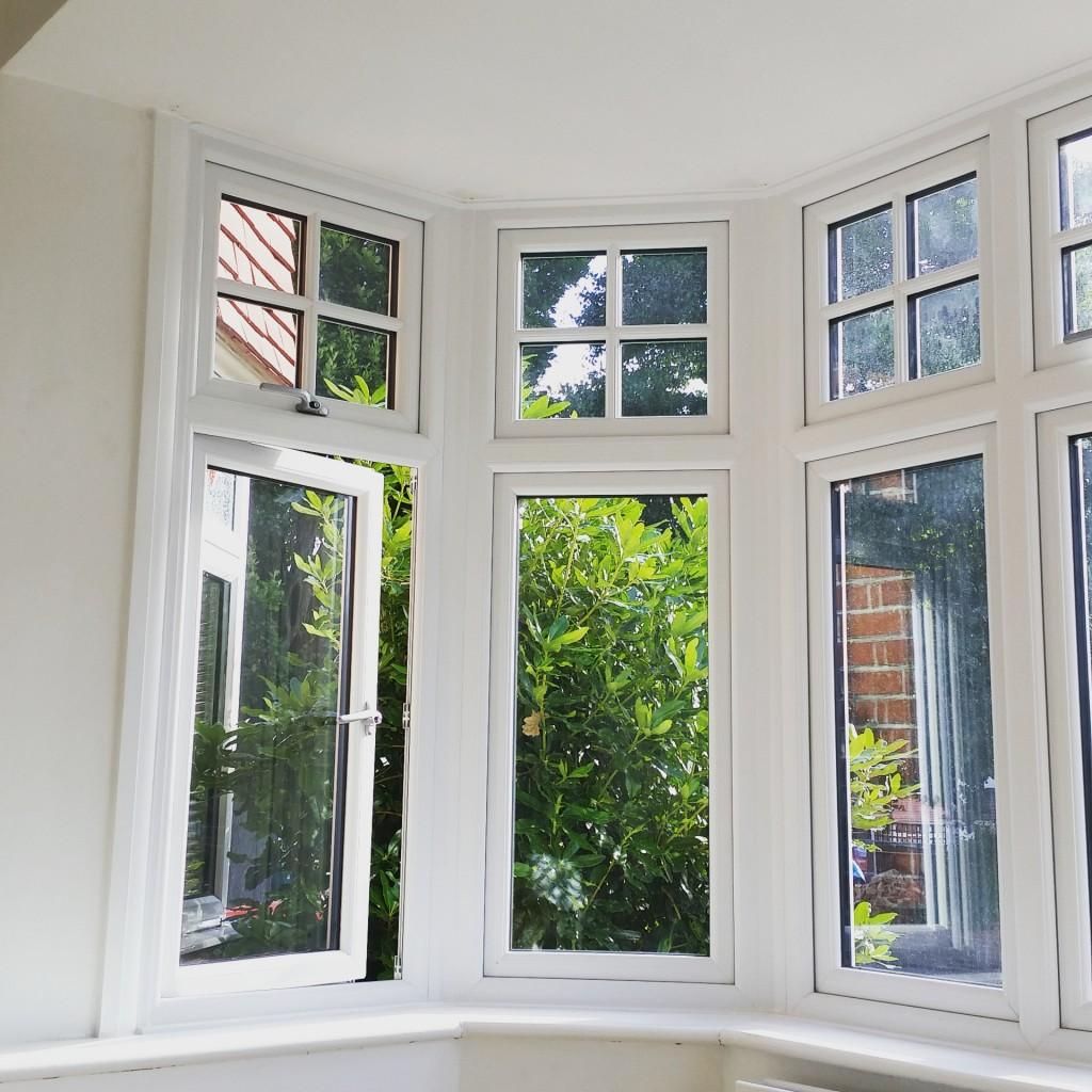 living room window before