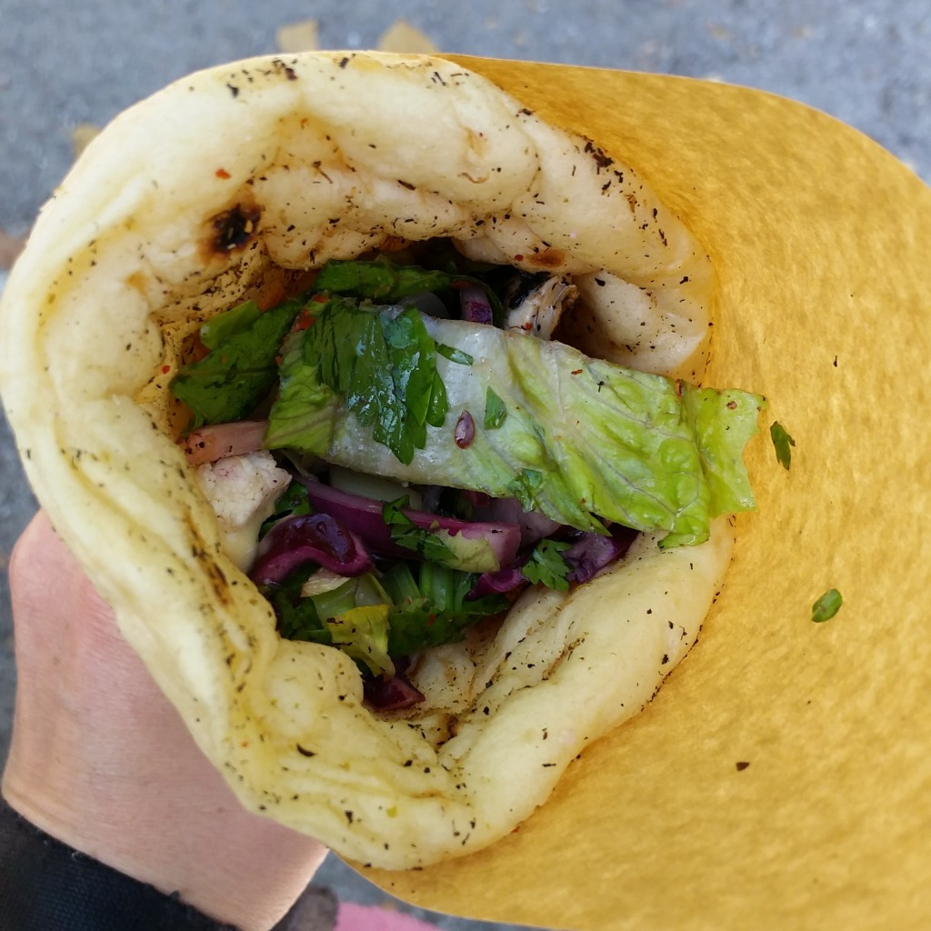 Mackerel flatbread from Mike and Ollie
