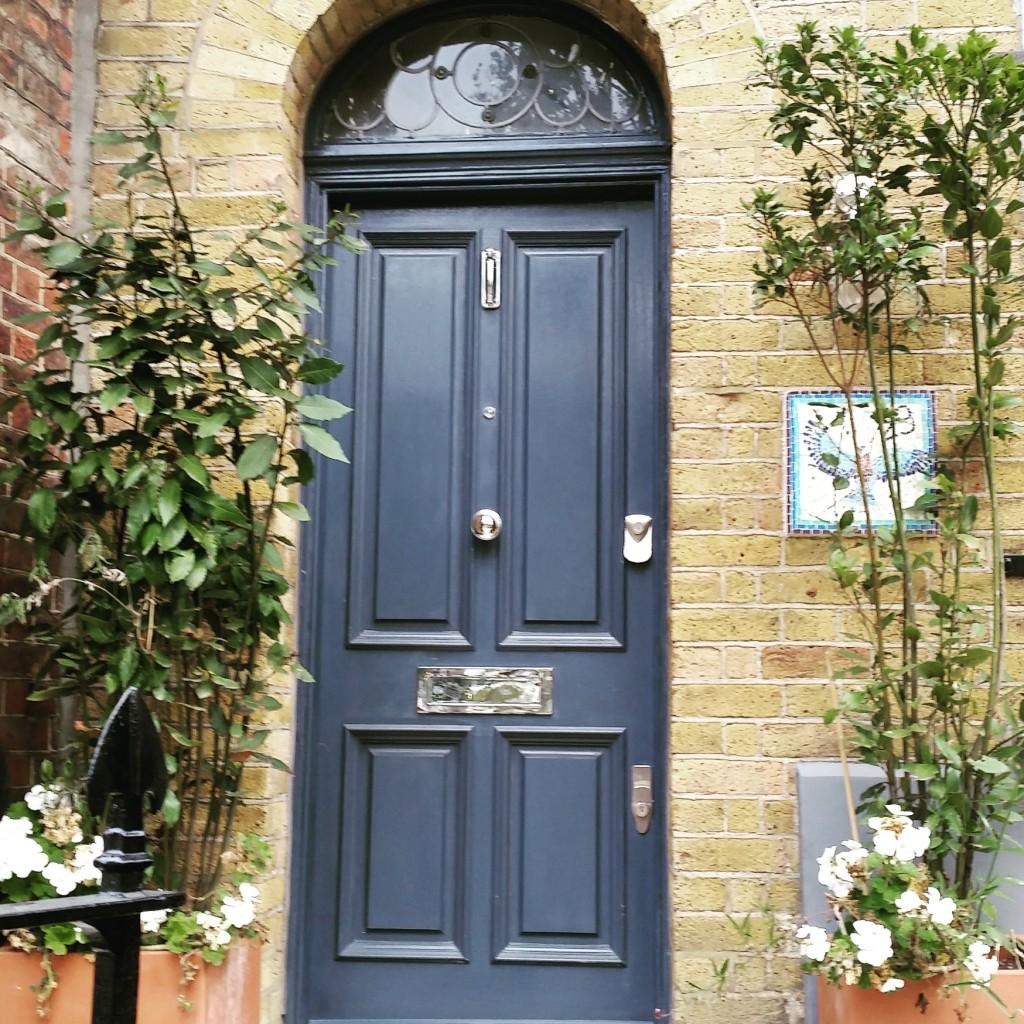 grey front doors in East London
