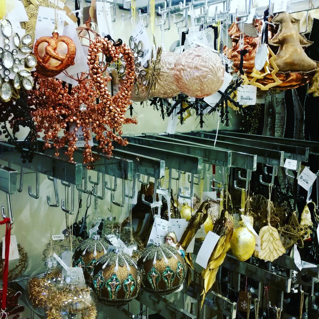 copper decorations at HomeSense
