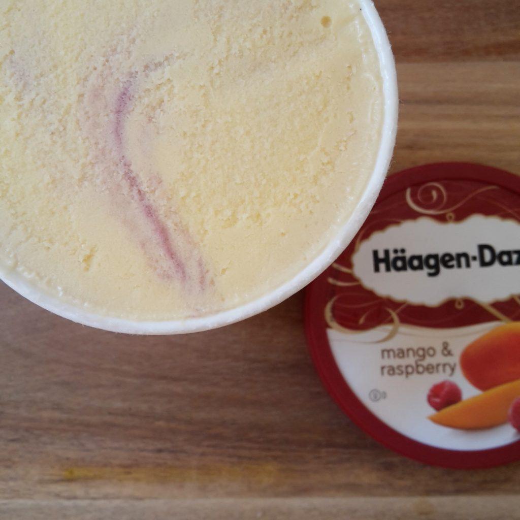 Haagen Dazs Mango and Raspberry Ice Cream