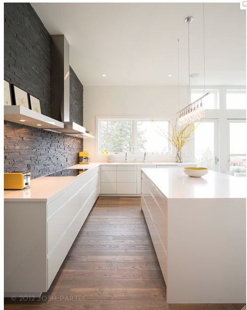 feature wall kitchen