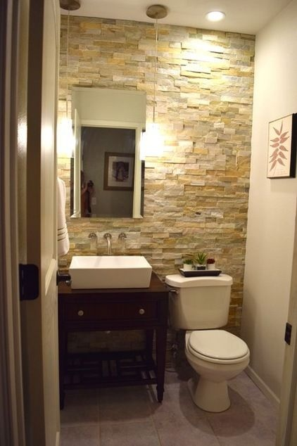 feature wall toilet