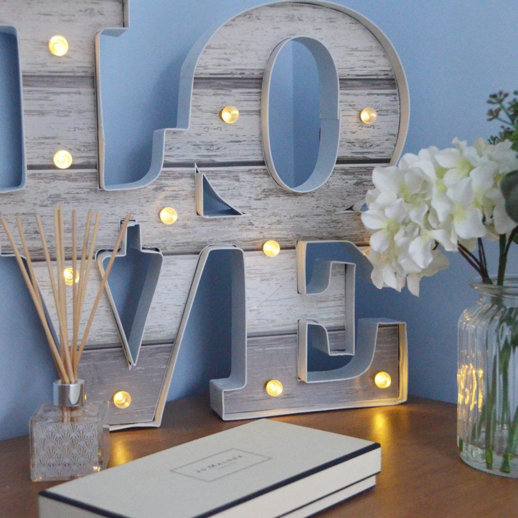Love Sign Bedroom Makeover