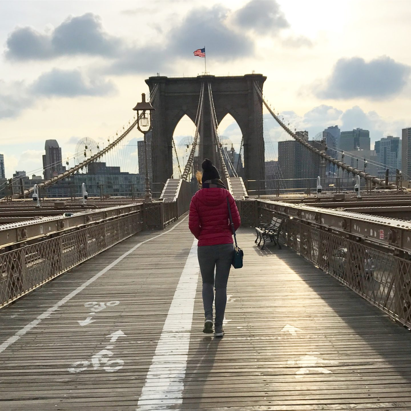 Walking Over Brooklyn Bridge