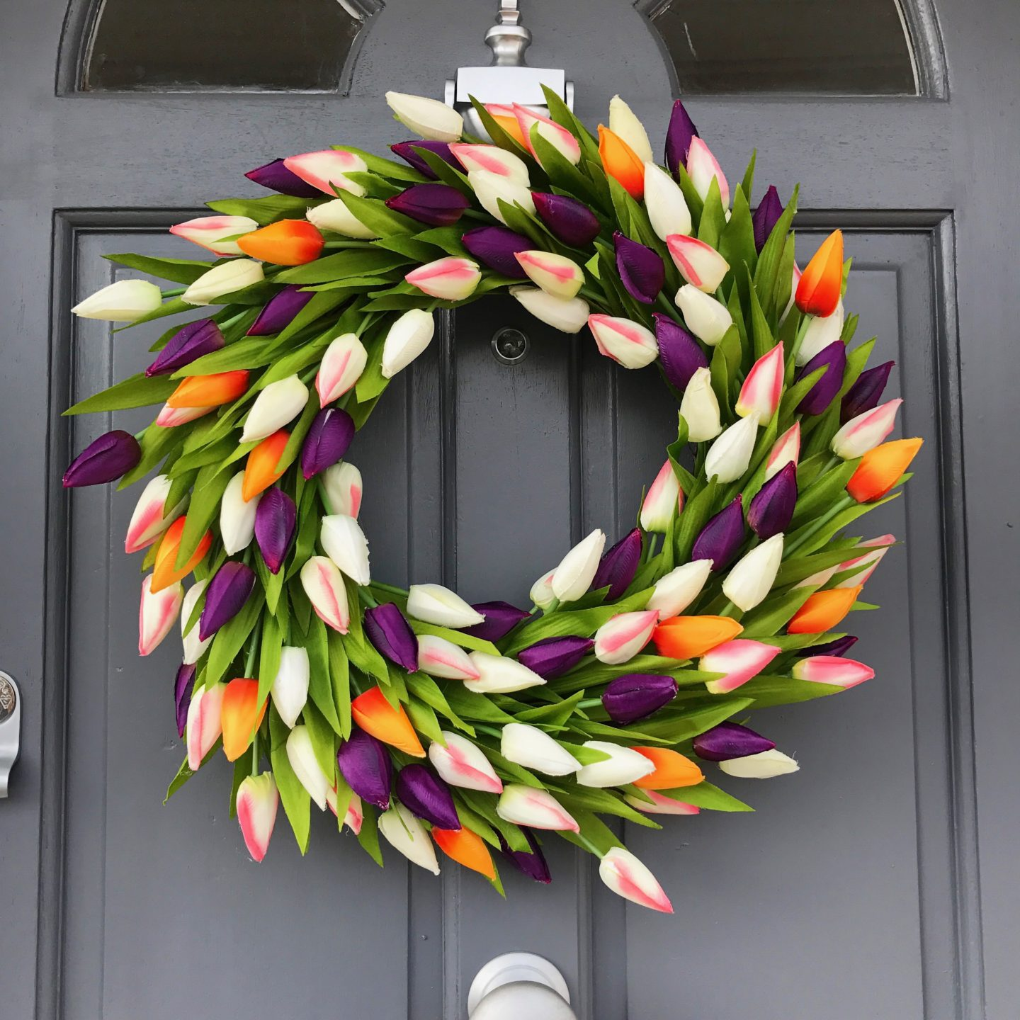 Faux Tulip Wreath