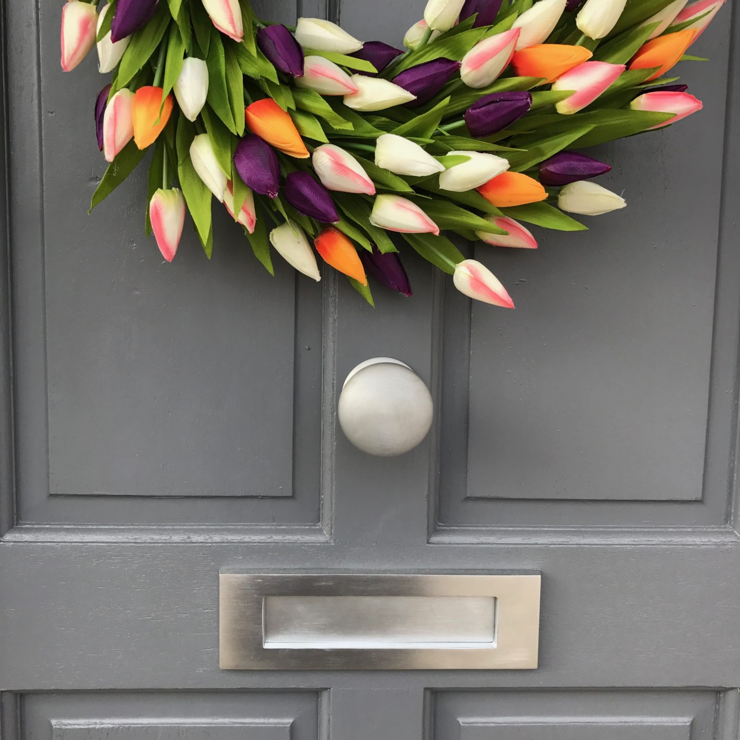 The Big Door Wreath Company Tulip Wreath