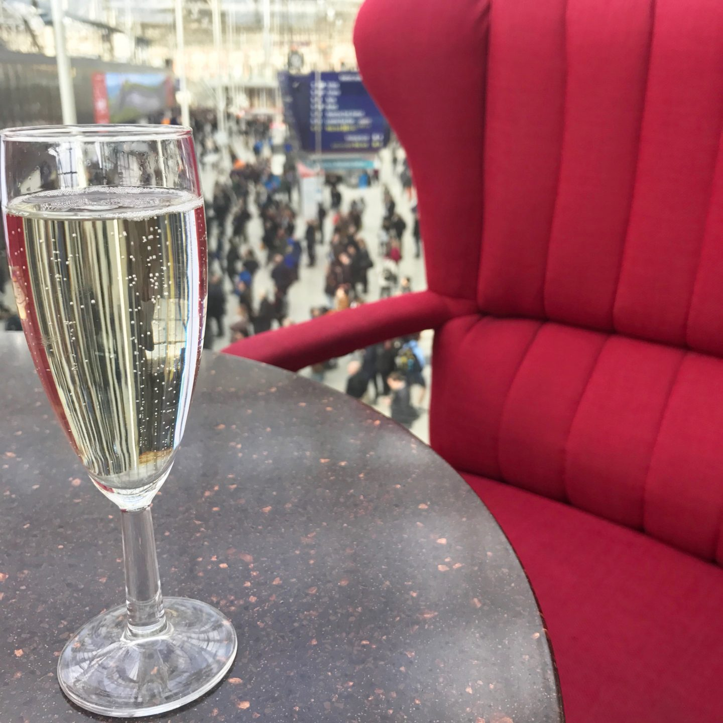 Prosecco at Waterloo Station