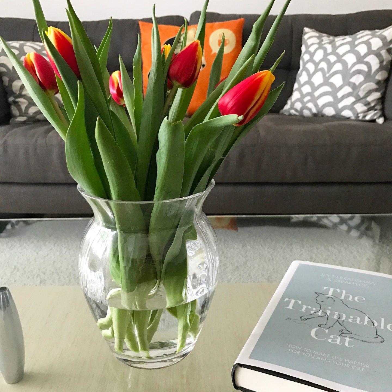Dartington Crystal Florabundance Tulip Vase