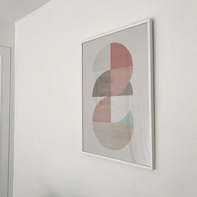 Posterlounge Wooden Circles Print