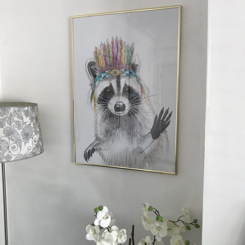 Posterlounge Raccoon Print