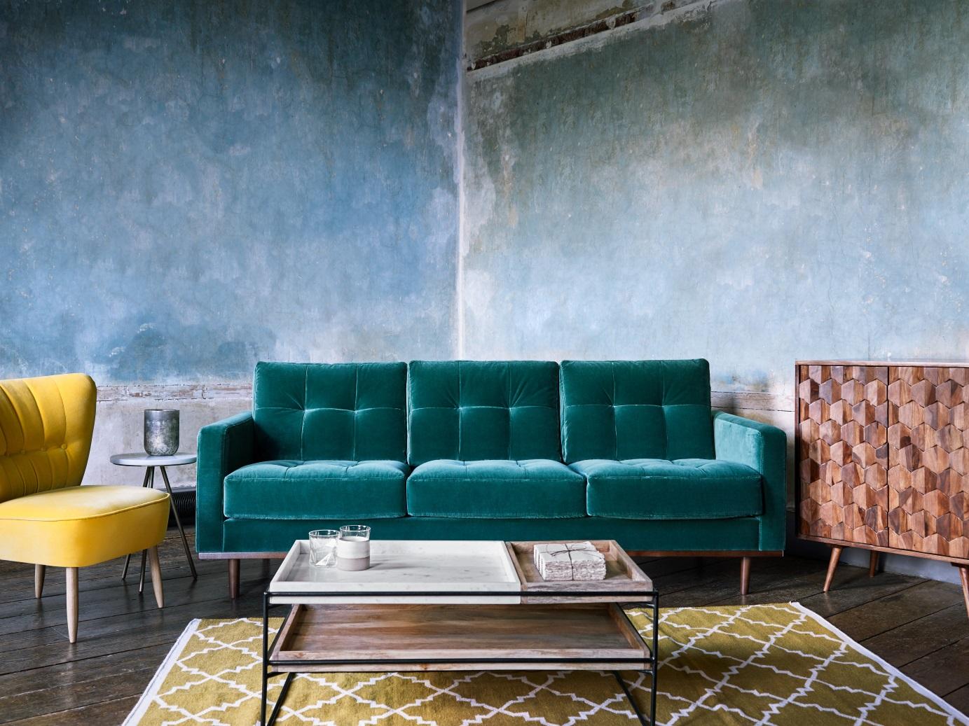 Swoon Editions Velvet Sofa