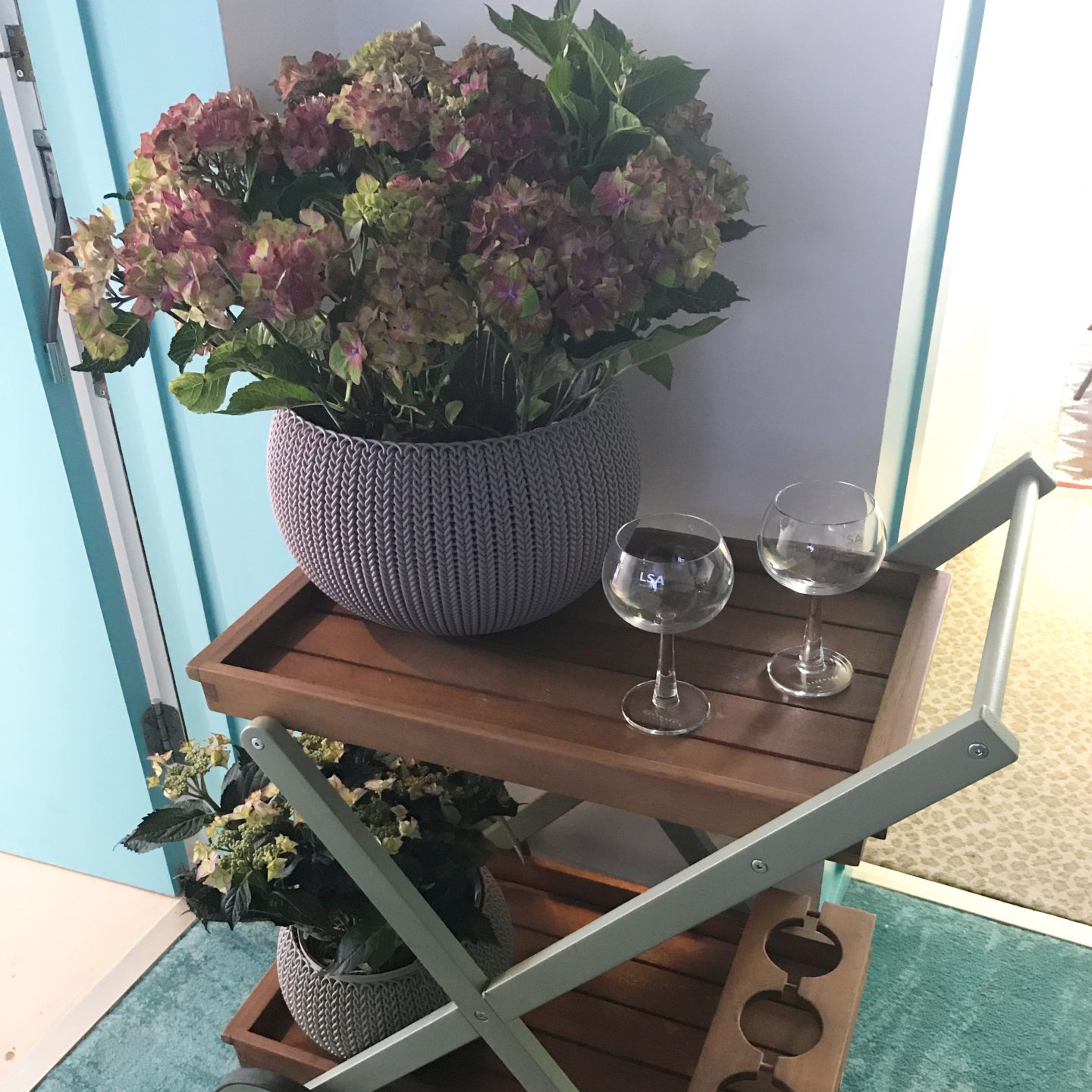 Kaleidoscope Garden Bar Cart