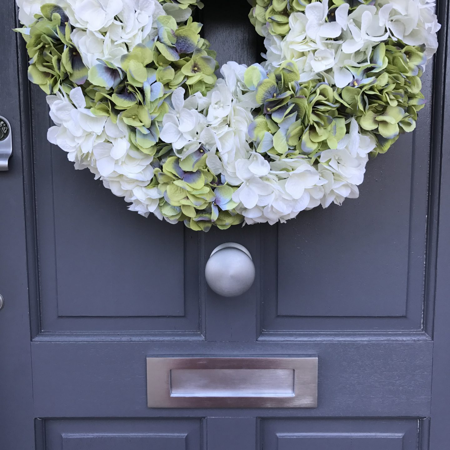 Hydrangea Wreath Faux Flowers
