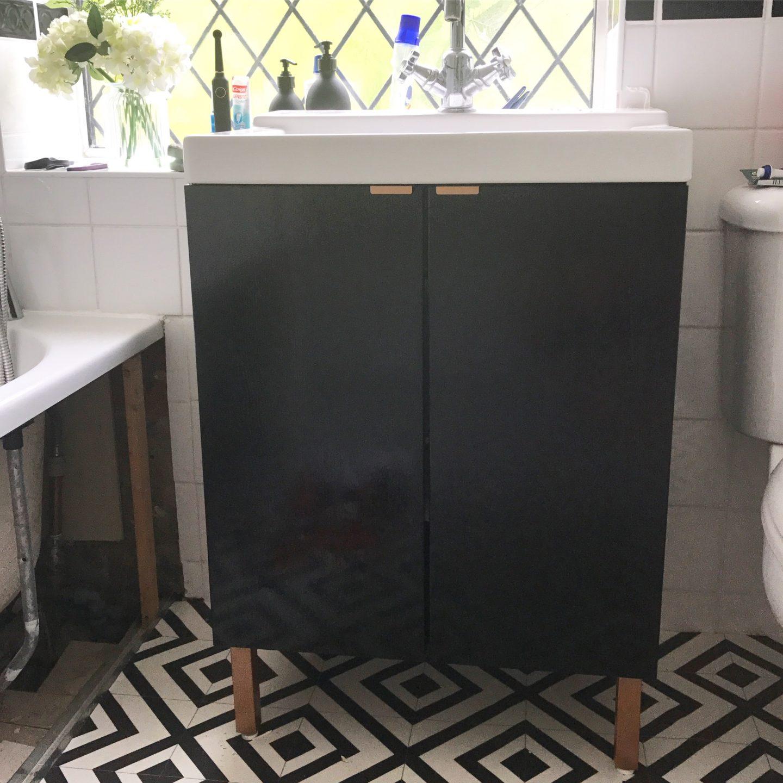 IKEA Cupboard Hack Bathroom Makeover
