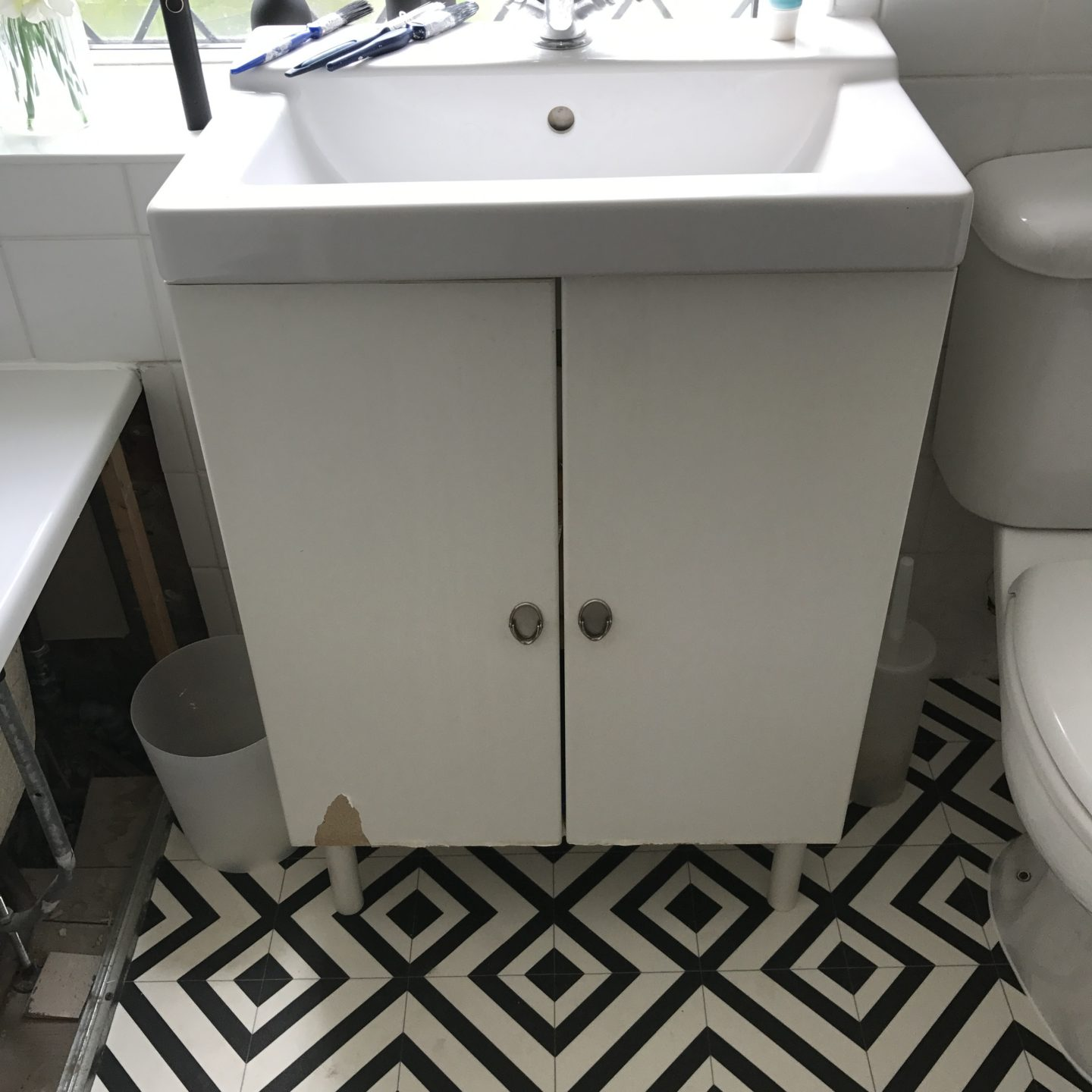 DIY IKEA Hack Bathroom Cupboard Before