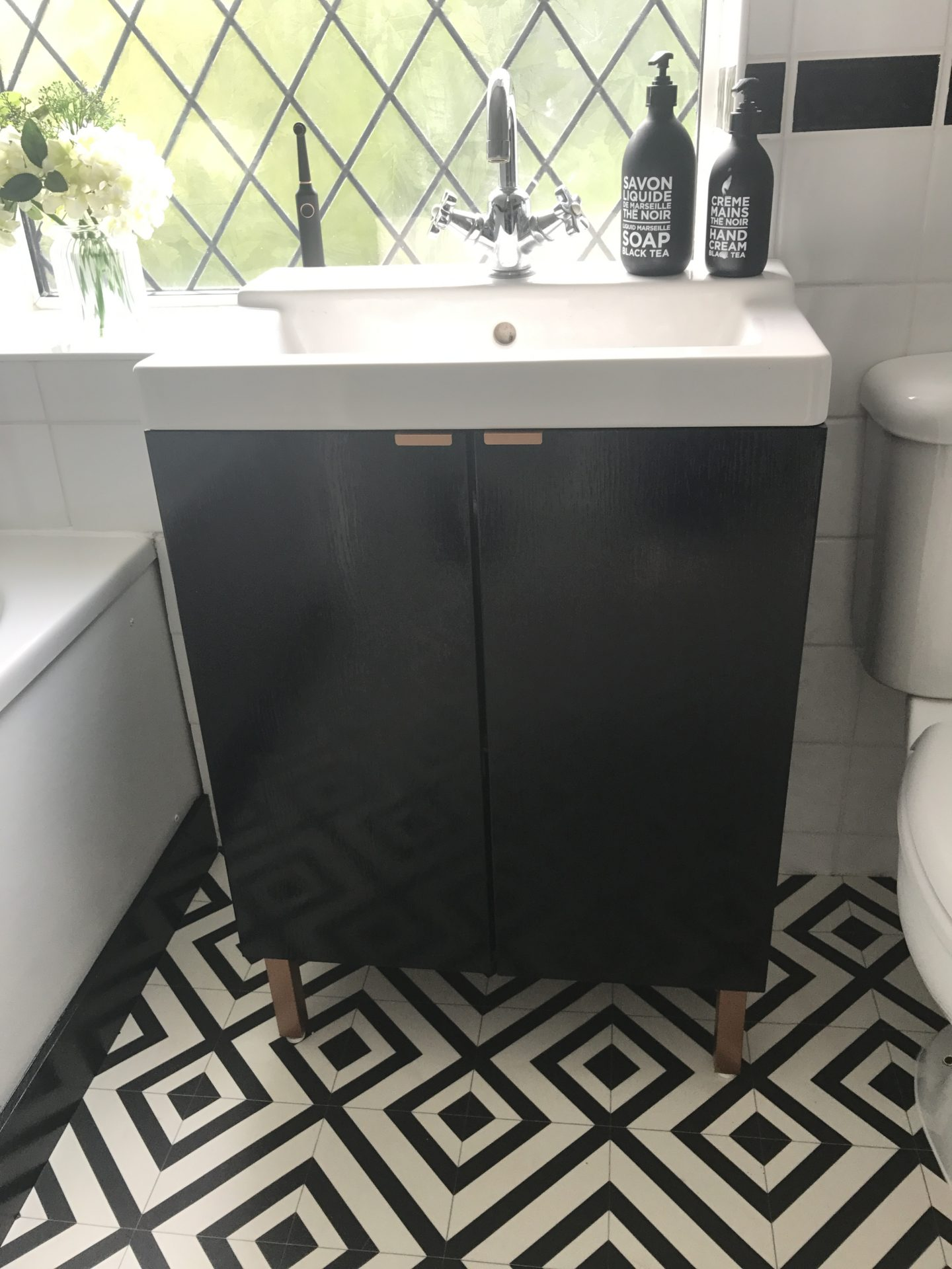 DIY IKEA Hack Bathroom Sink Cupboard