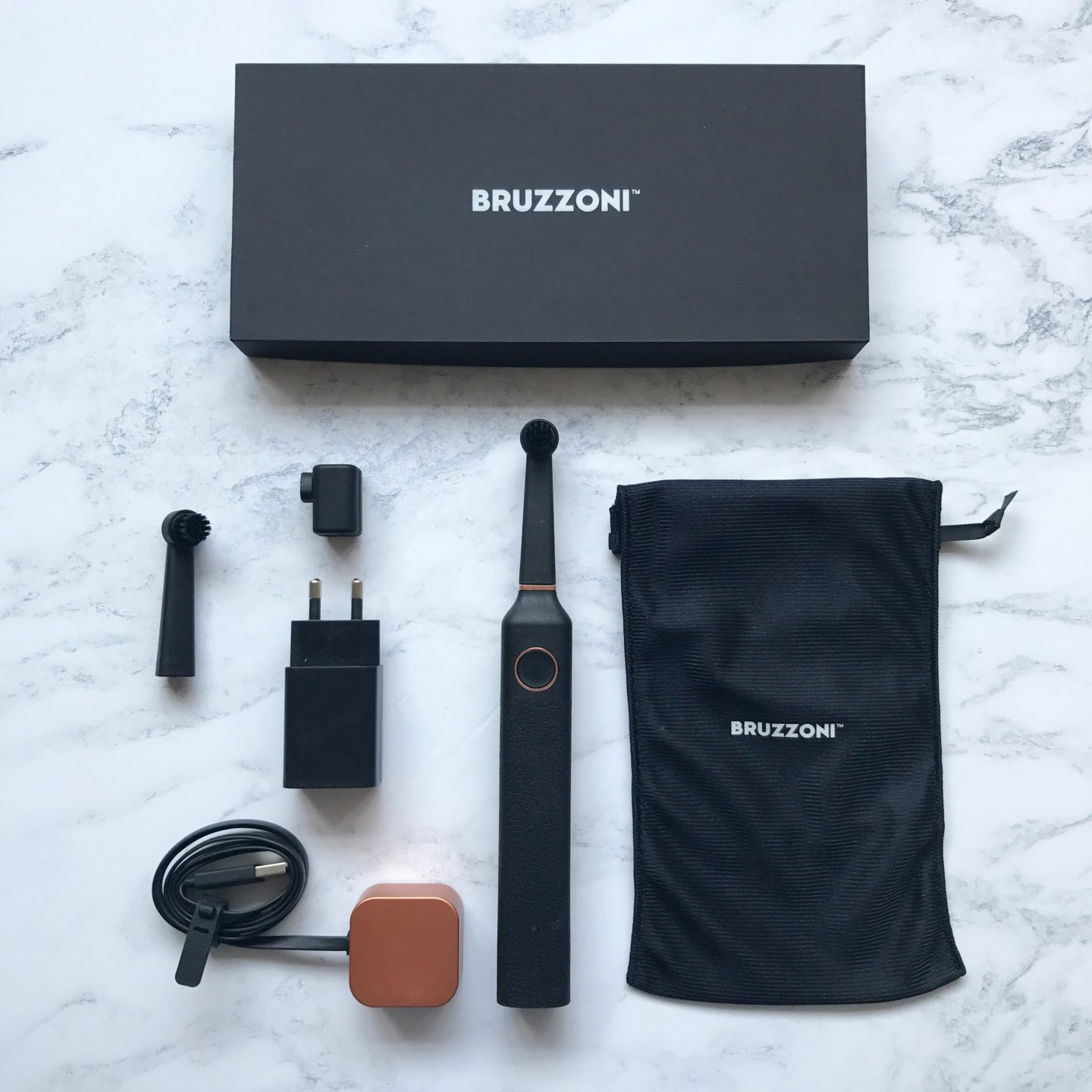 Bruzzoni Toothbrush Black Rose Gold