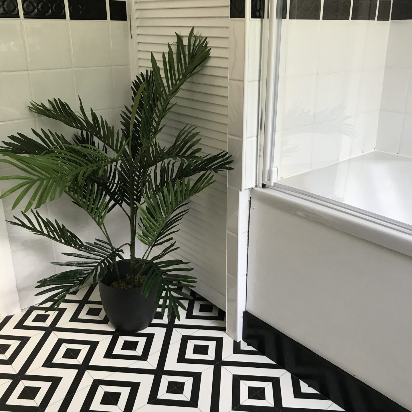 Monochrome Bathroom Makeover Reveal