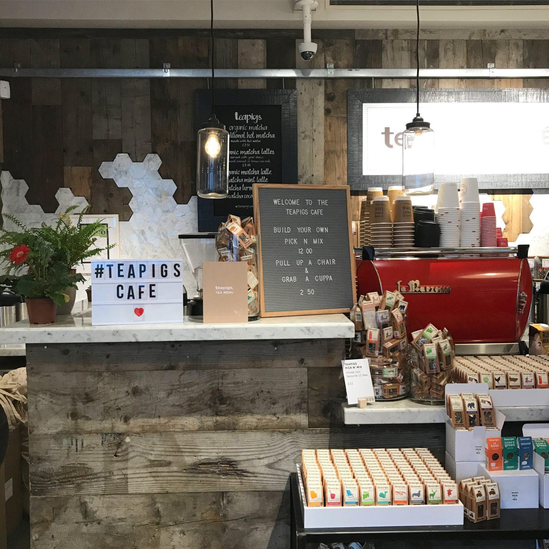 teapigs pop-up cafe West Elm