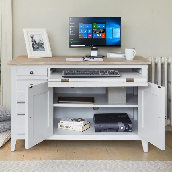 Wooden Furniture Store Hidden Computer Desk