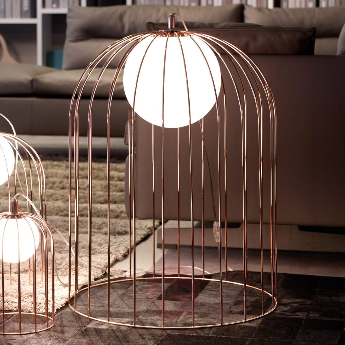 Lights.co.uk Kluvi Caged Lamp