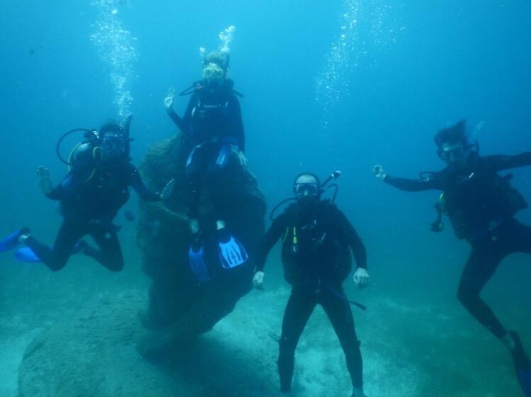Hayley scuba diving in Mexico