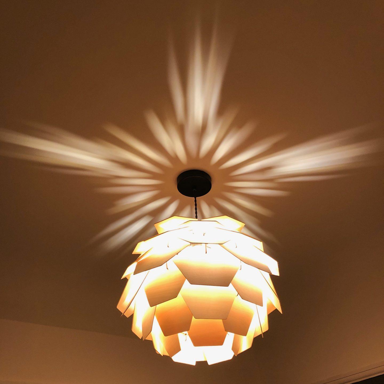Iconic Lights Artichoke Plywood Shade