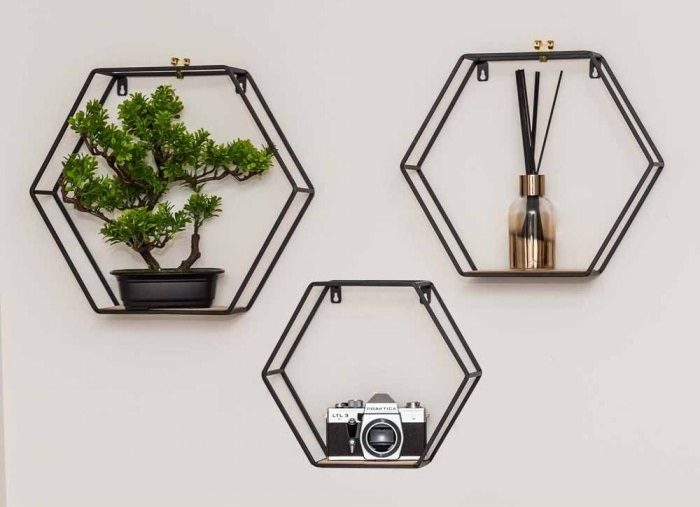 SueRyderHExagonShelves