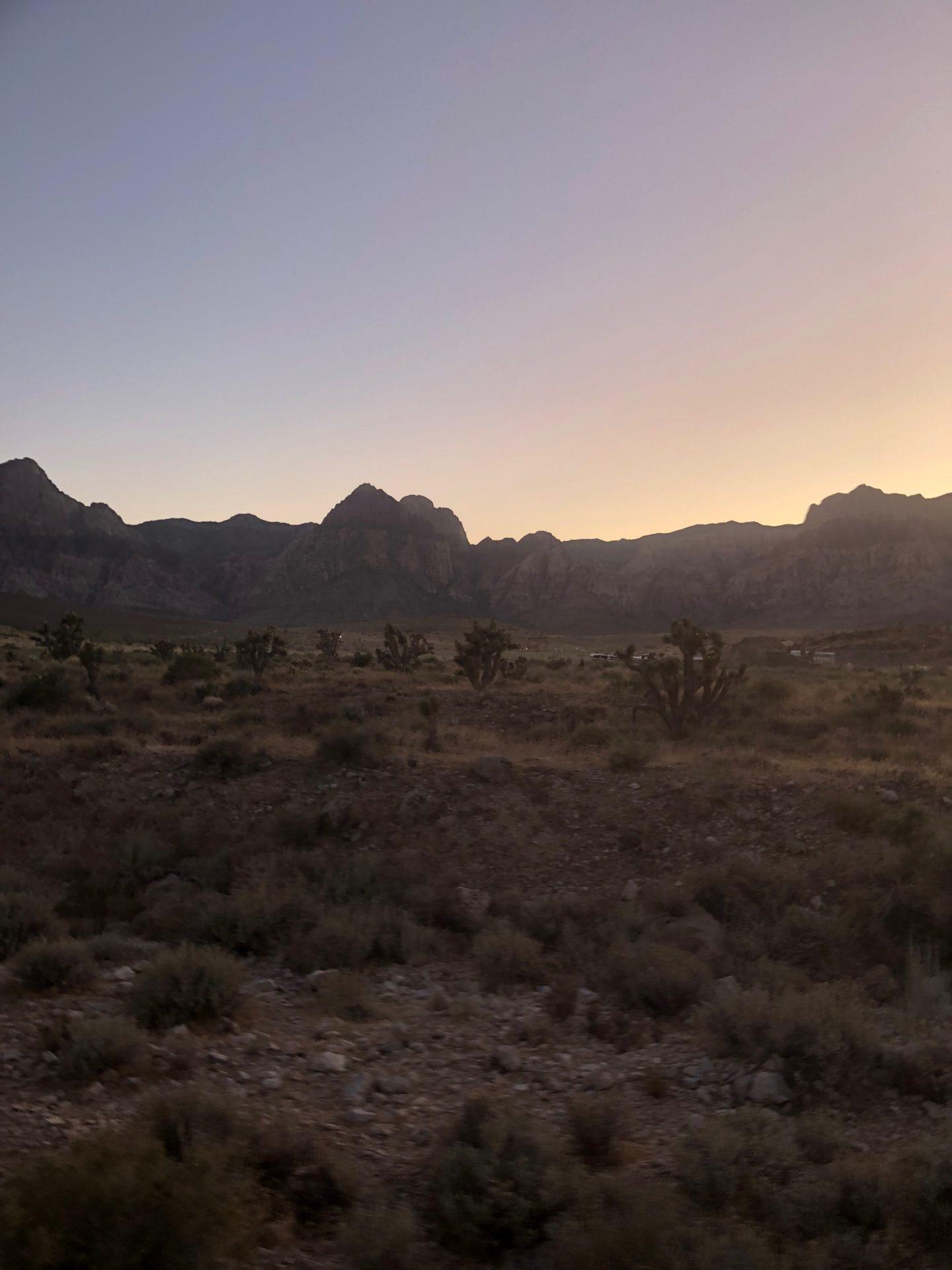 Sunset Red Rock Canyon Las Vegas