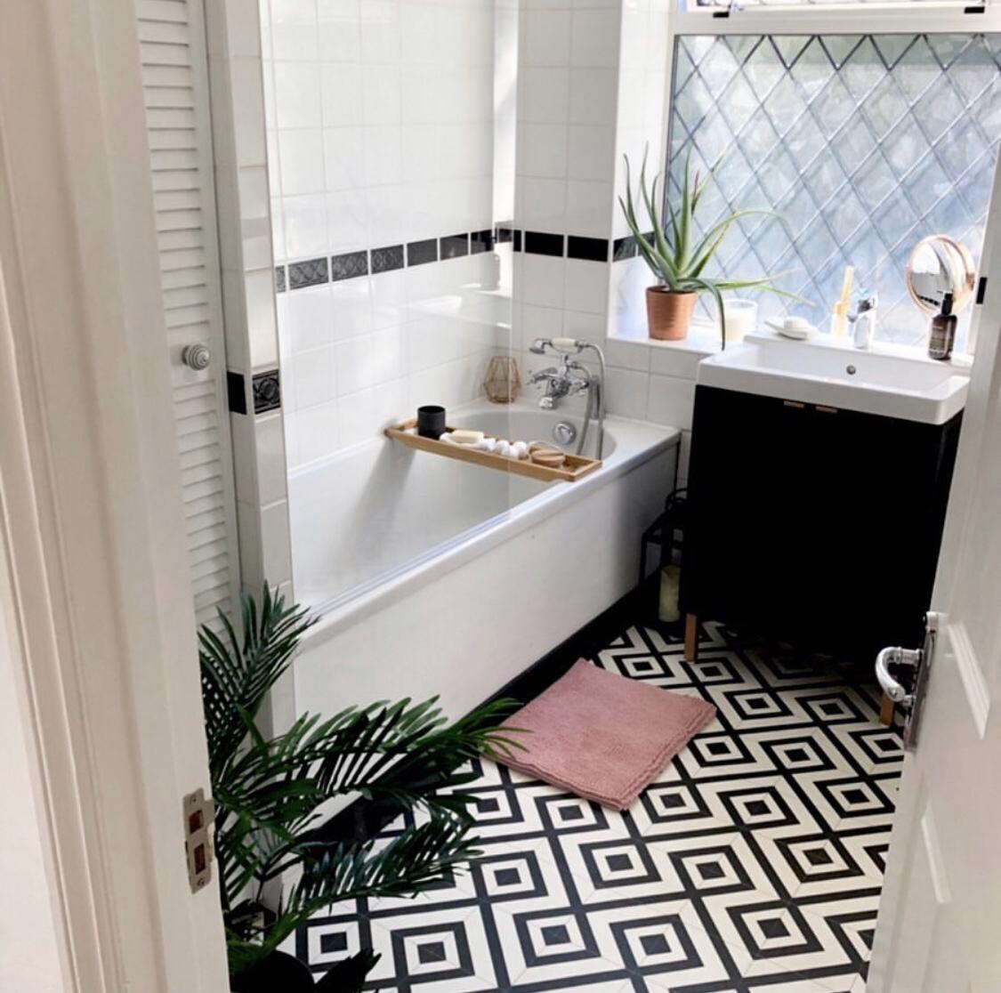 Painted Bathroom Tiles