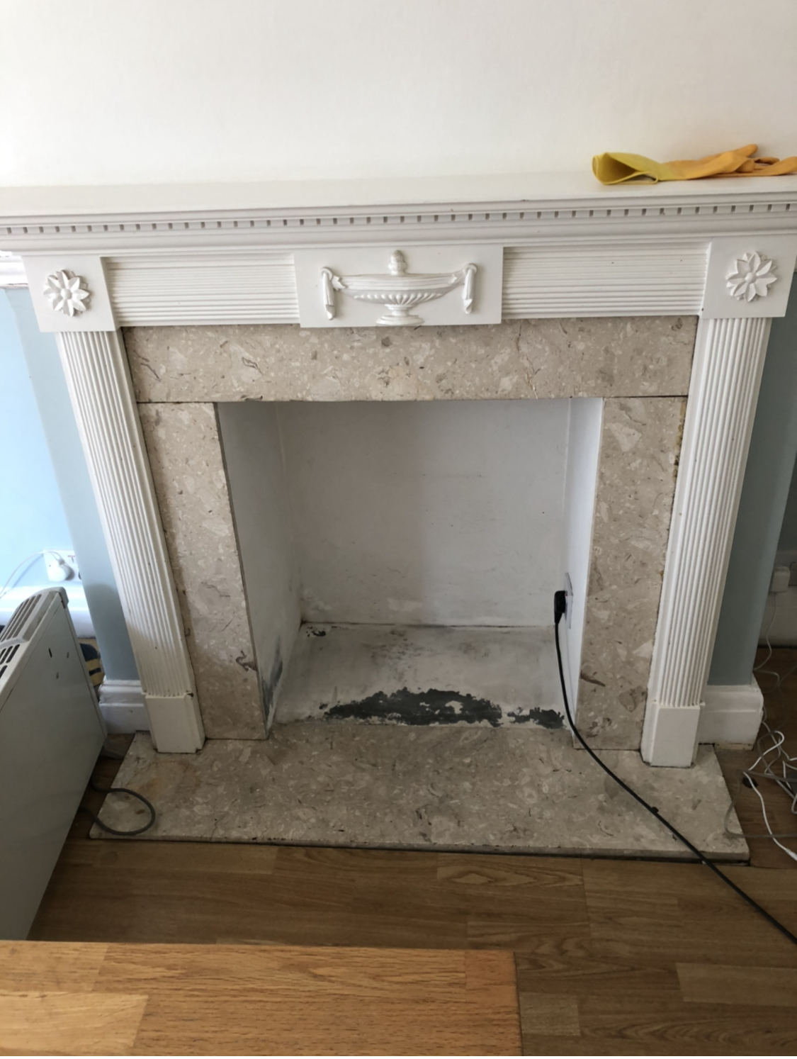 1930's fireplace before